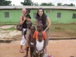 Caren van Roekel in Ghana
