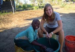 Irene Francke in Ghana