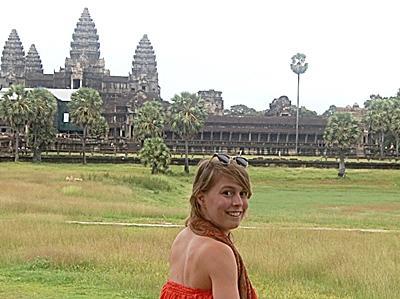 Ineke Van der Biest in Cambodja