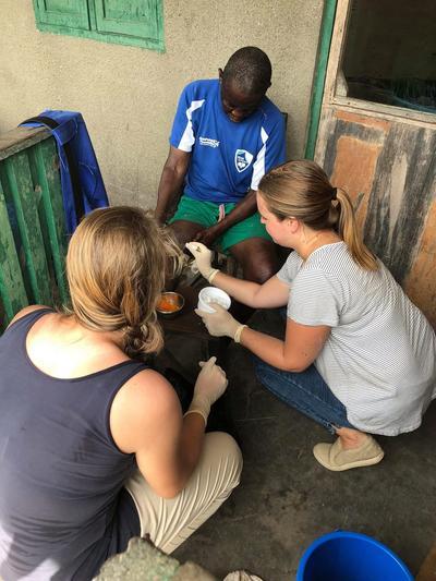 Jet Ellenbroek, Gezondheidszorg, verpleegkunde project in Ghana