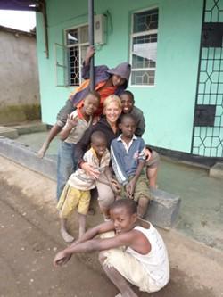Maartje van der Aa in Tanzania