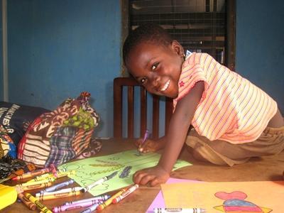 Marieke Colruyt in Ghana