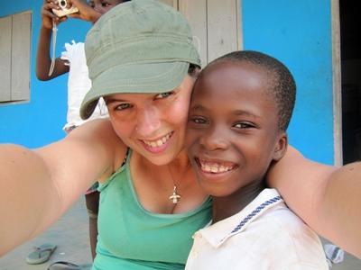 Marleen Koens in Ghana