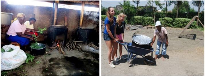 Sociaal project in Kenia door Marianne Strijbos en dochter Noor (13), en Mirjam Dijkman en dochter Loys (14)