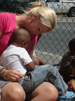 één van mijn kids in Zuid-Afrika