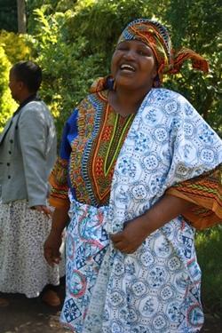 Mijn gastgezin moeder 'Mama Africa'