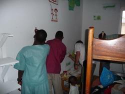 Werkzaamheden in het weeshuis in Ghana
