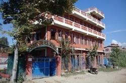 Wiebren Veenstra lesgeven in Nepal